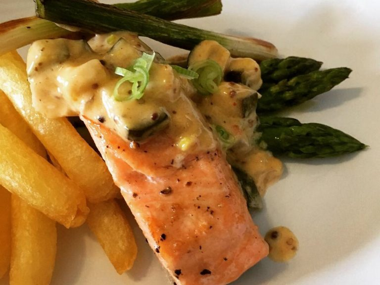 salmon and chips